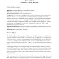 A Guide to the Gainsboro Library Records Collection